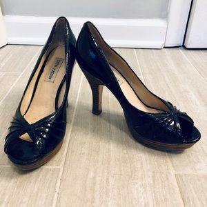 Steve Madden Black Peep-Toe Heels